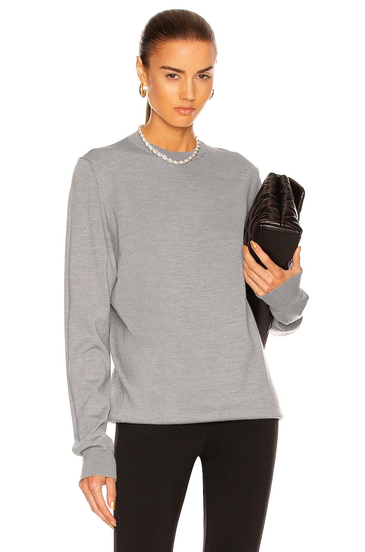 Image 1 of WARDROBE.NYC Crew Sweater in Grey