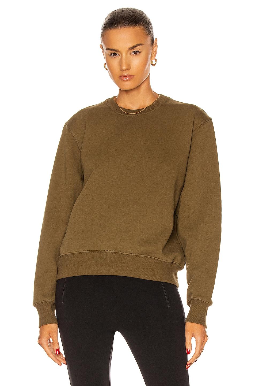 Image 1 of WARDROBE.NYC Track Sweatshirt in Military