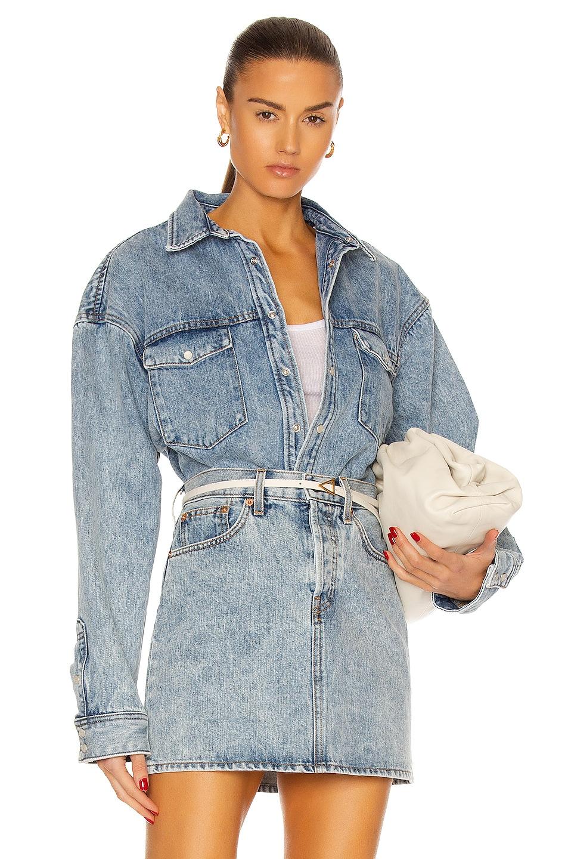 Image 1 of WARDROBE.NYC Denim Jacket in Blue