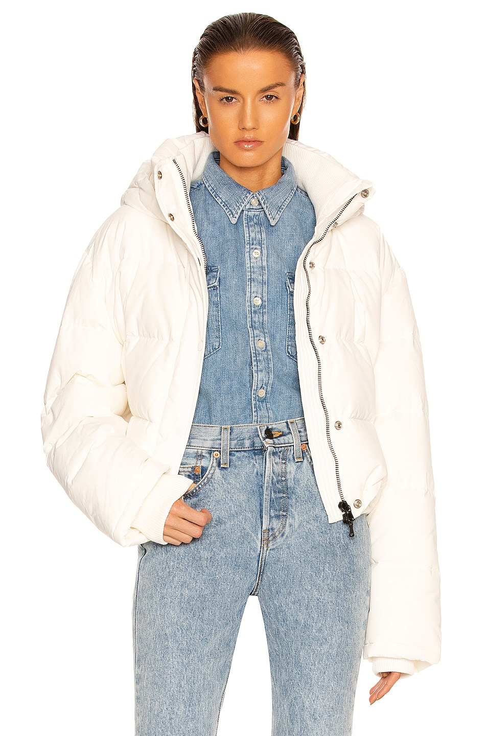 Image 1 of WARDROBE.NYC Puffer Jacket in Off-White