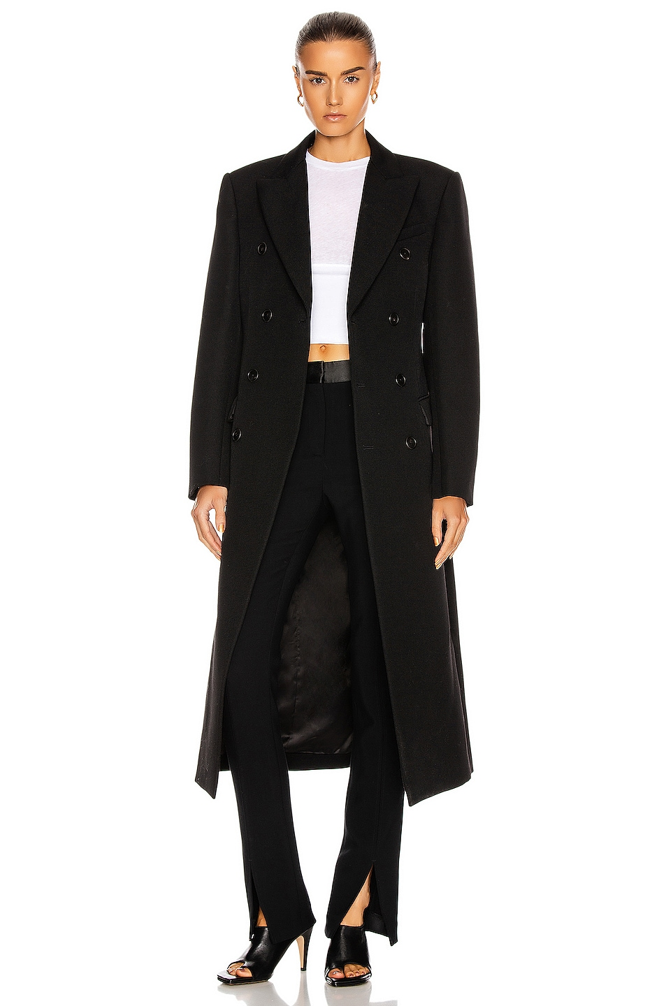 Image 1 of WARDROBE.NYC Double Breasted Coat in Black