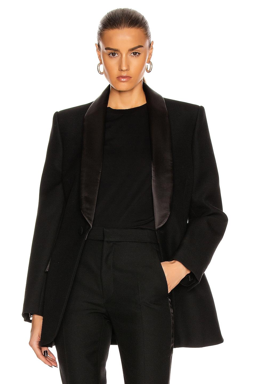 Image 1 of WARDROBE.NYC Tuxedo Blazer in Black