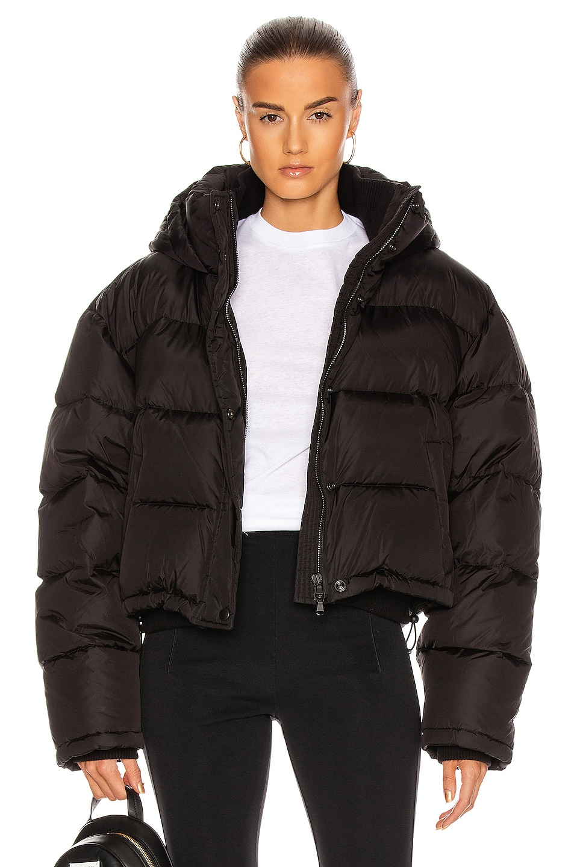 Image 1 of WARDROBE.NYC Gloss Puffer Jacket in Black Gloss