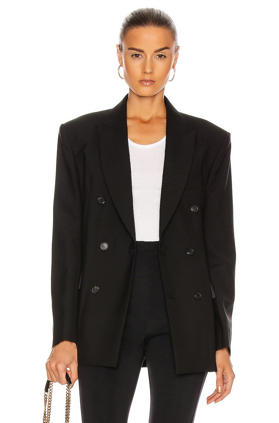 Image 1 of WARDROBE.NYC Double Breasted Blazer in Black