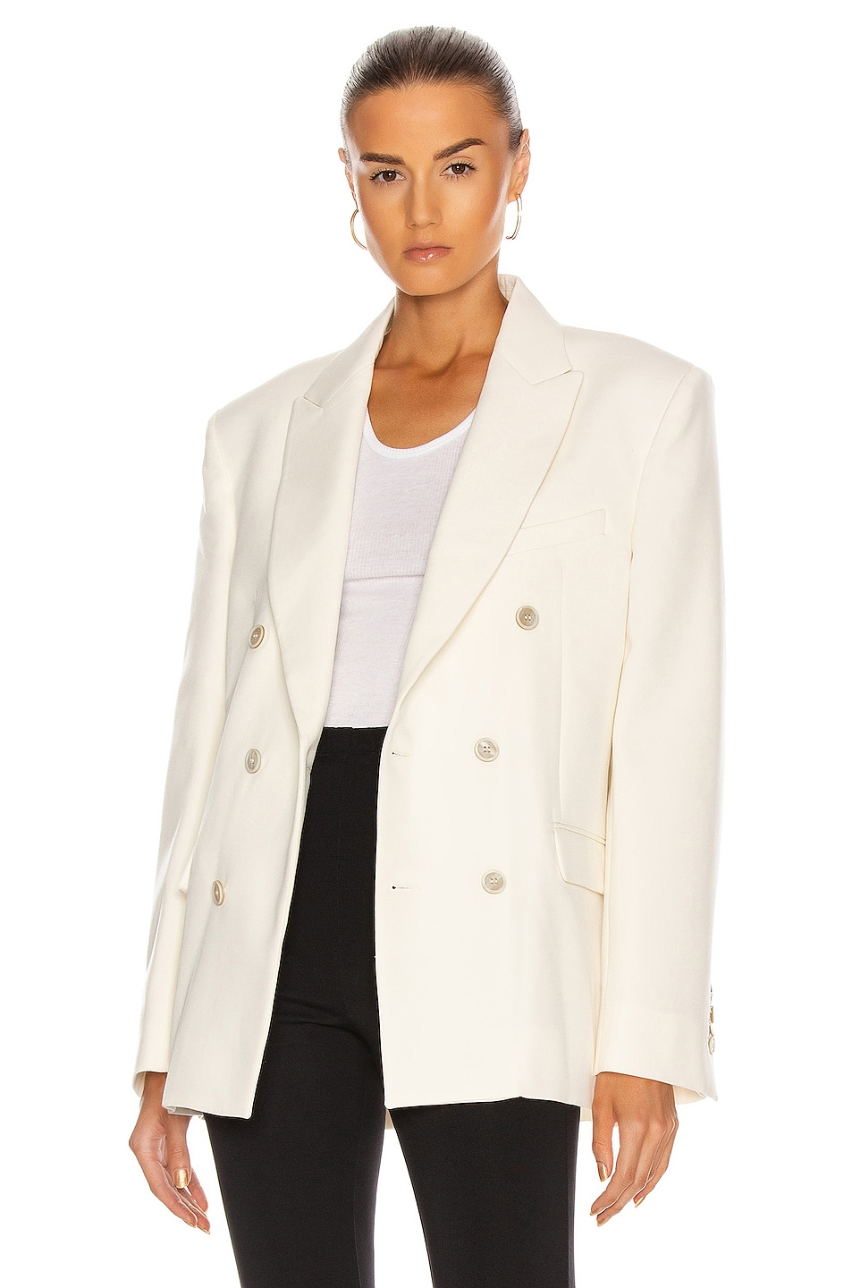 Image 1 of WARDROBE.NYC Double Breasted Blazer in Off White