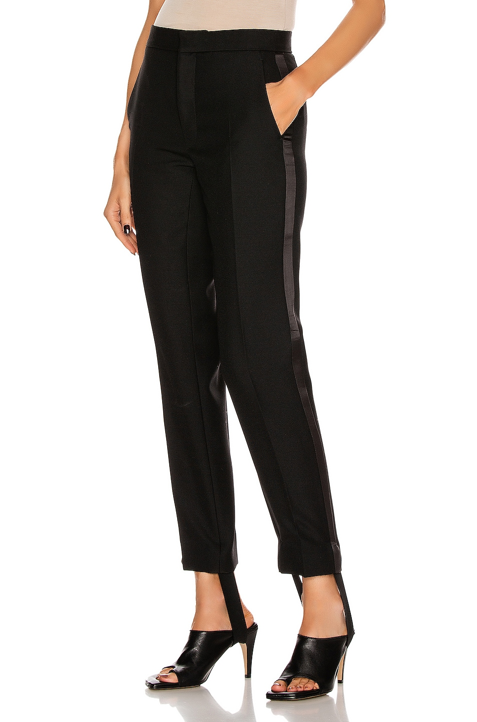 Image 1 of WARDROBE.NYC Tuxedo Trouser Pant in Black