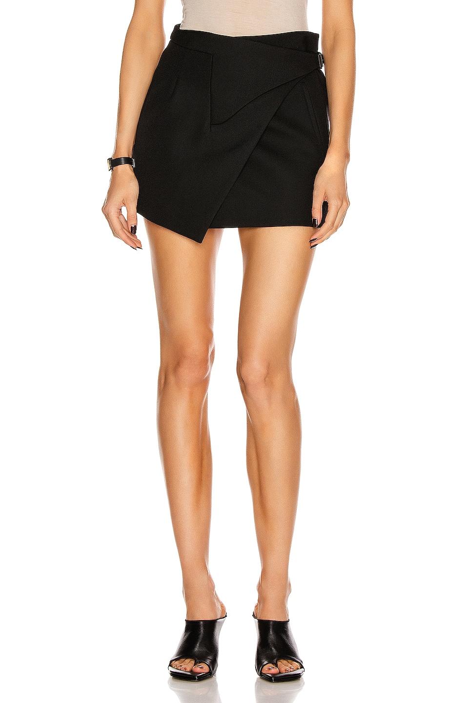 Image 1 of WARDROBE.NYC Wrap Mini Skirt in Black