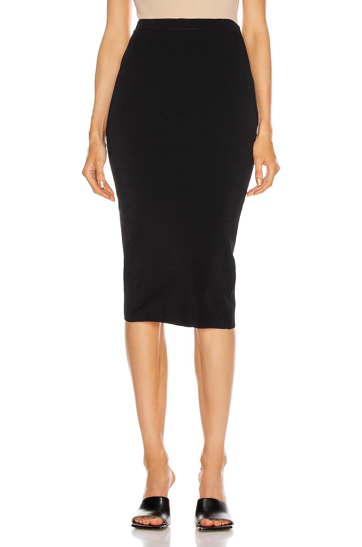 Image 1 of WARDROBE.NYC Knit Skirt in Black