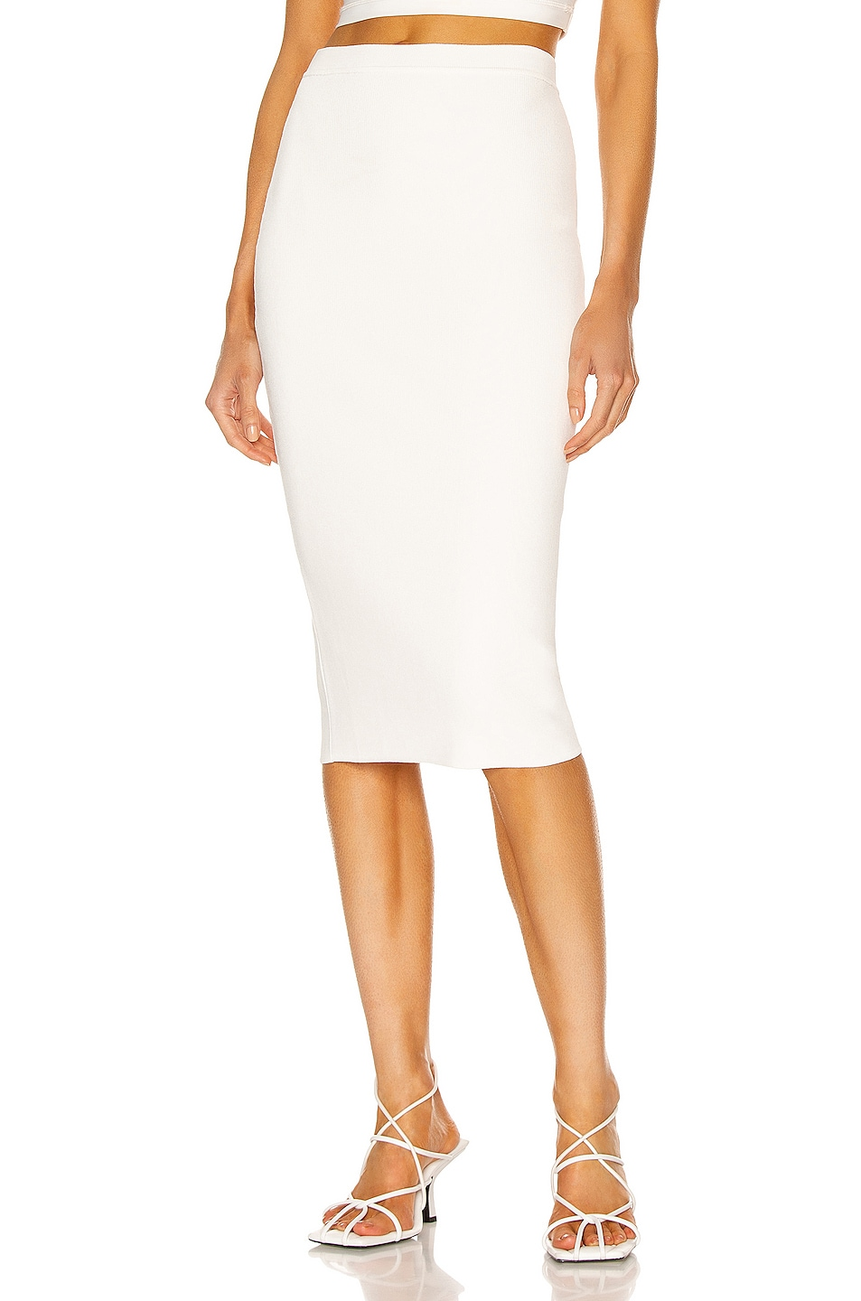 Image 1 of WARDROBE.NYC Knit Skirt in Off-White