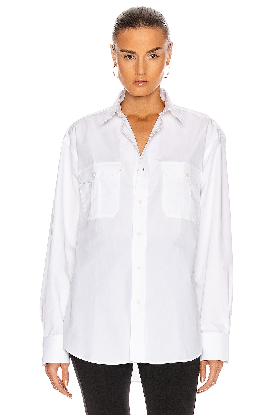 Image 1 of WARDROBE.NYC Tailored Shirt in White