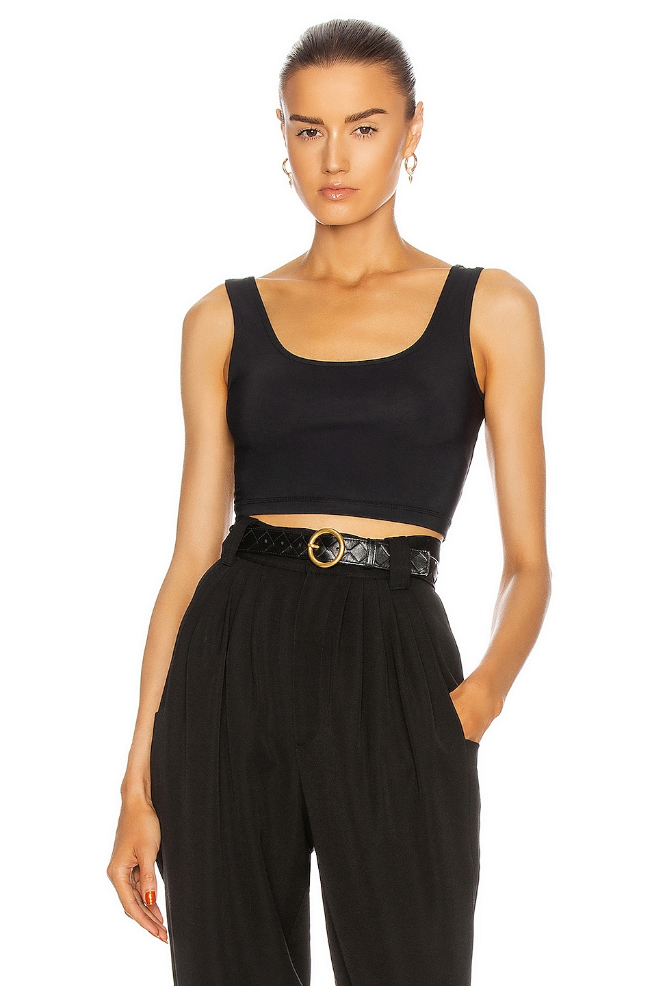 Image 1 of WARDROBE.NYC Crop Top in Black