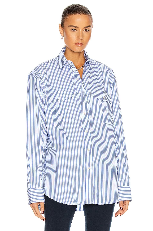Image 1 of WARDROBE.NYC Oversize Shirt in Blue
