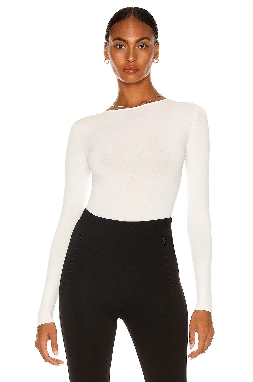 Image 1 of WARDROBE.NYC Knit Bodysuit in Off-White