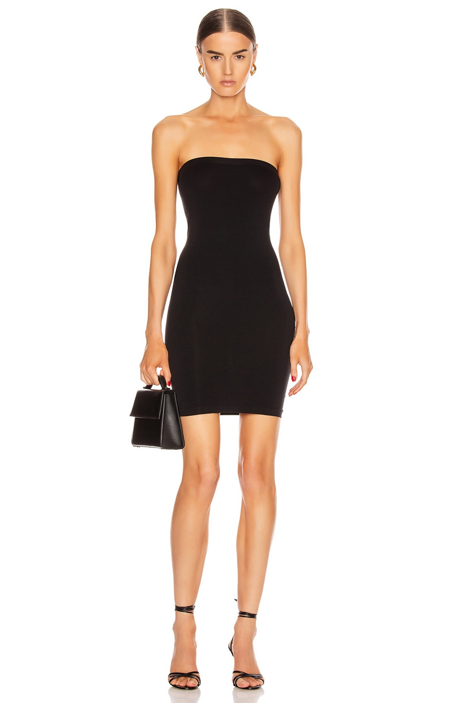 Image 1 of Wolford Fatal Mini Dress in Black