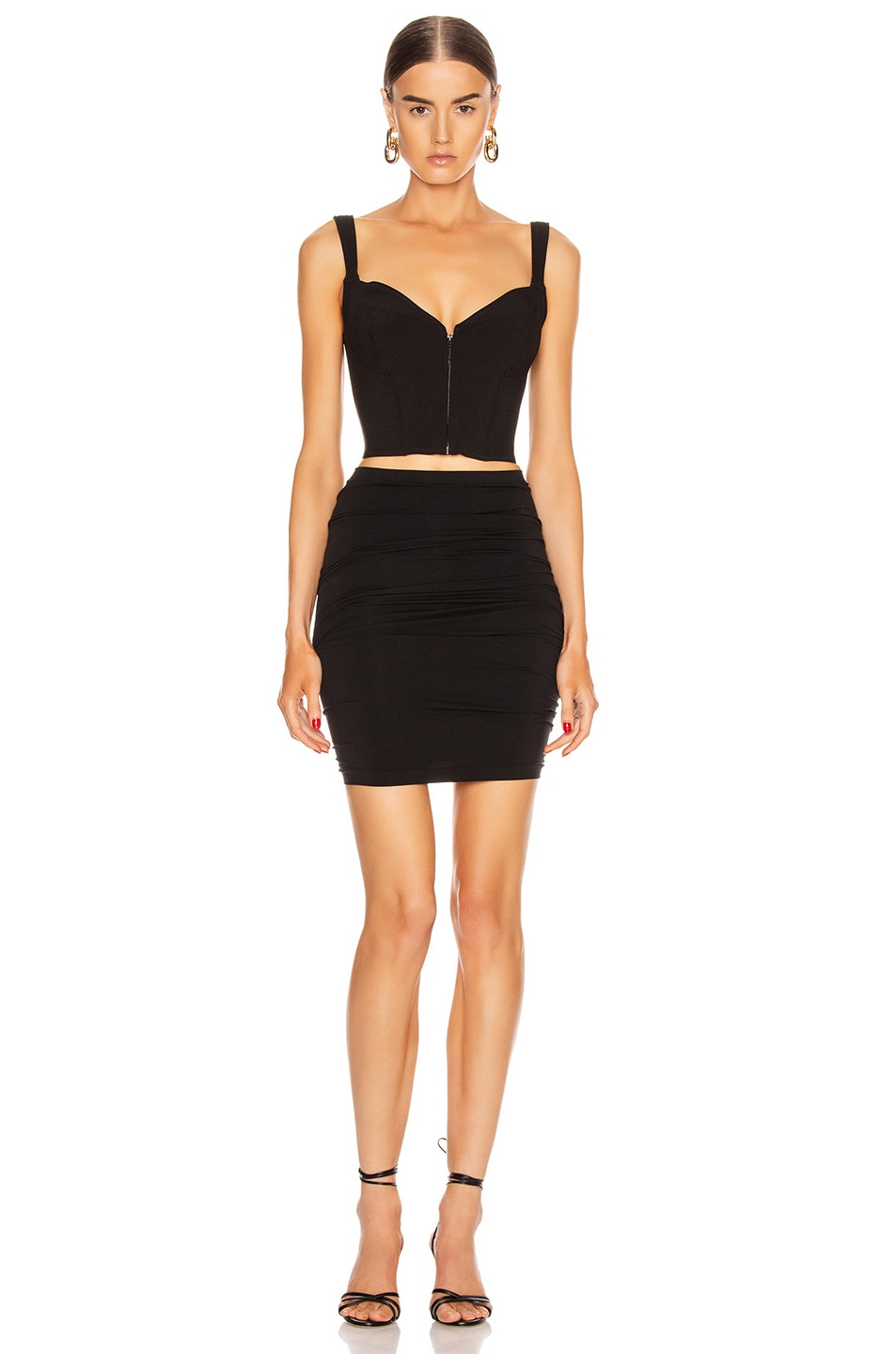 Image 3 of Wolford Fatal Mini Dress in Black