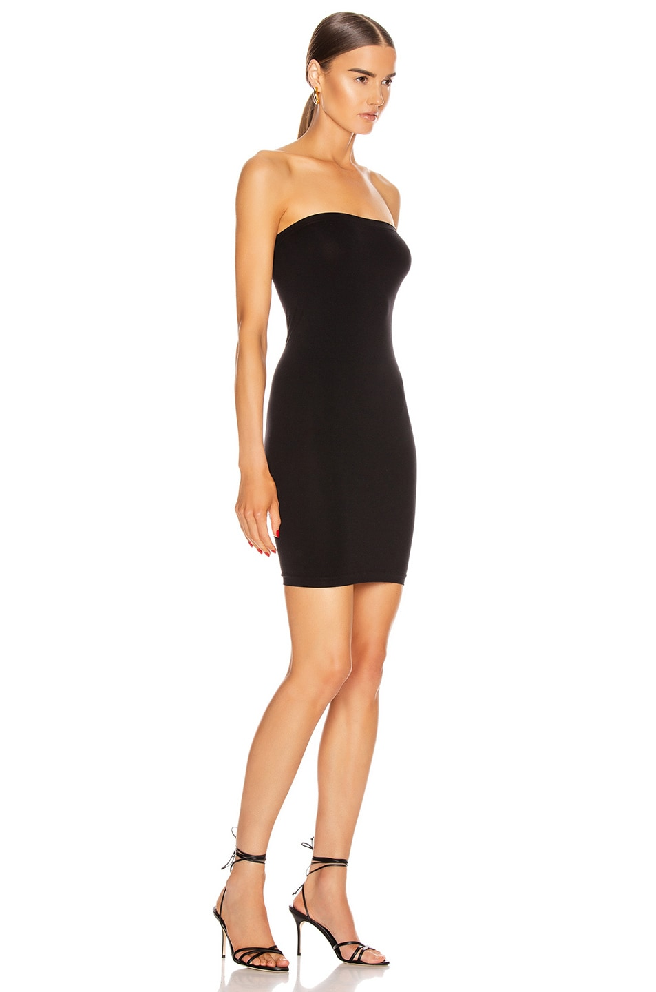 Image 4 of Wolford Fatal Mini Dress in Black
