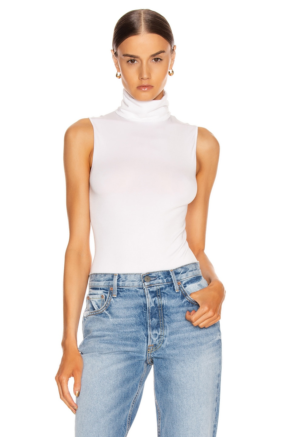 Image 1 of Wolford Viscose String Bodysuit in White