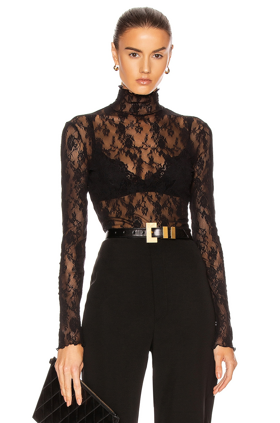 Image 1 of Wolford Katharina Pullover Top in Black