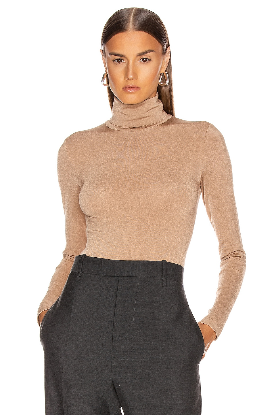Image 1 of Wolford Colorado String Bodysuit in Latte