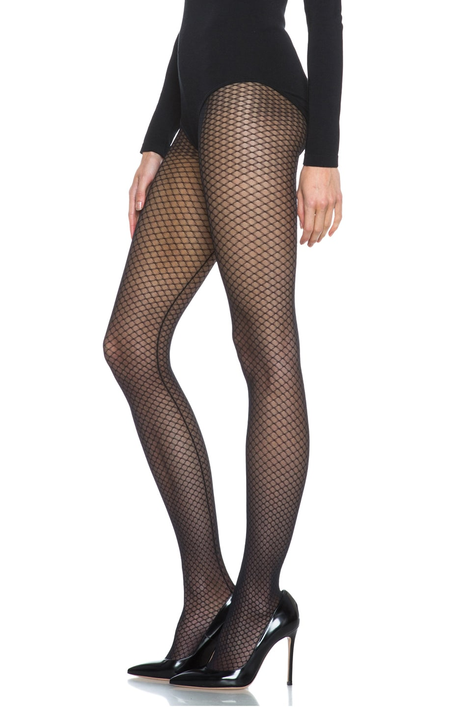 Image 2 of Wolford Iman Tights in Black