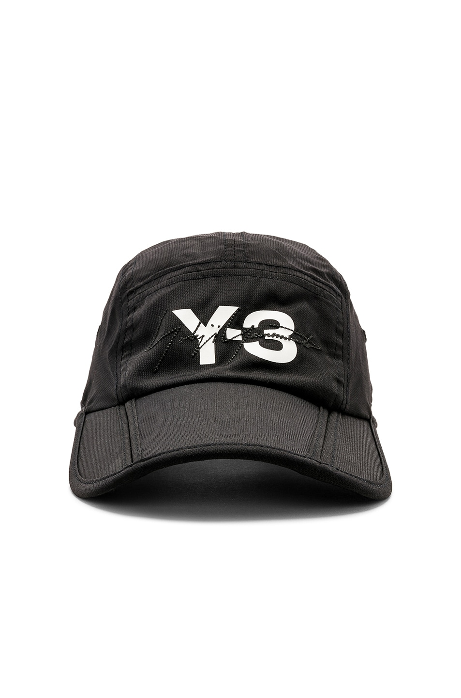 1e73fed598772 Image 1 of Y-3 Yohji Yamamoto Foldable Cap in Black