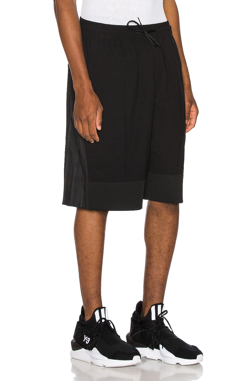 Image 2 of Y-3 Yohji Yamamoto Mix Shorts in Black