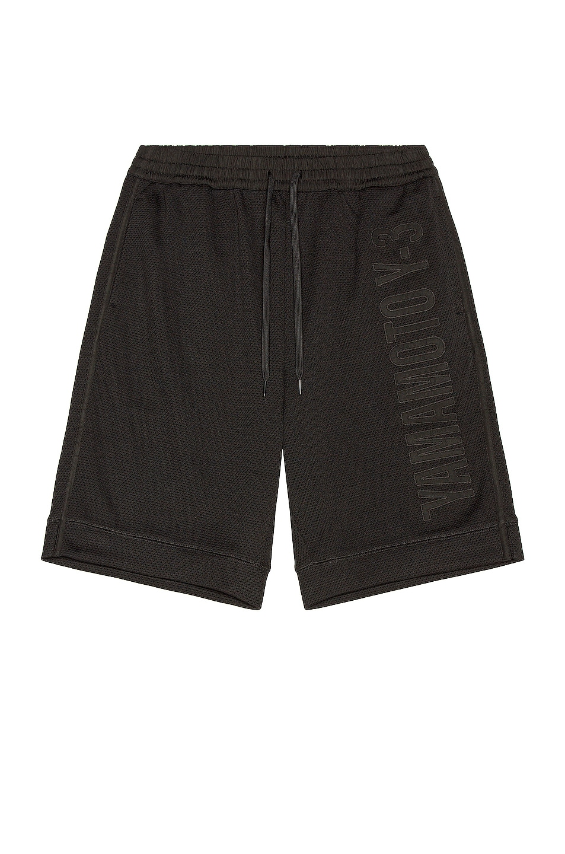 Image 1 of Y-3 Yohji Yamamoto CH2 GFX Mesh Shorts in Black & Black