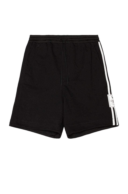 Image 1 of Y-3 Yohji Yamamoto 3 Stripe Classic Terry Shorts in Black