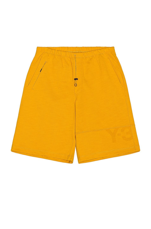 Image 1 of Y-3 Yohji Yamamoto Classic Heavy Pique Shorts in Craft Gold