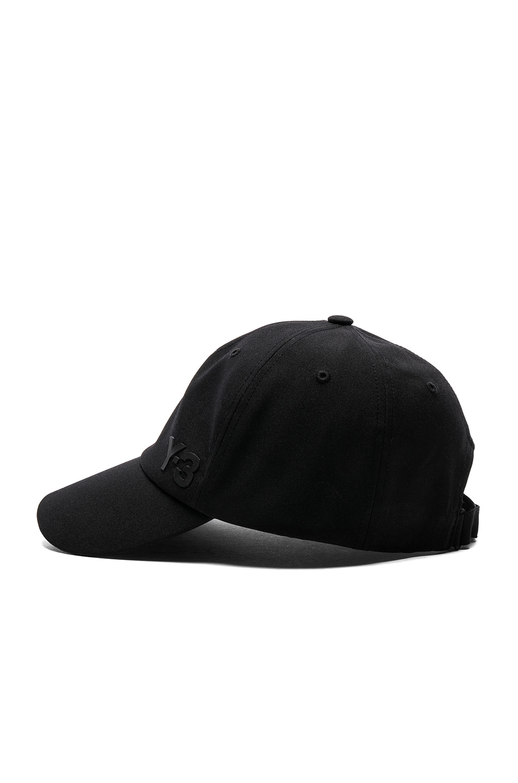 Image 3 of Y-3 Yohji Yamamoto Lux Cap in Black