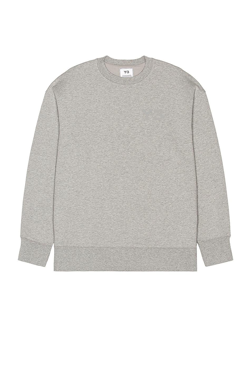 Image 1 of Y-3 Yohji Yamamoto Classic Chest Logo Crew Sweatshirt in Medium Heather Grey