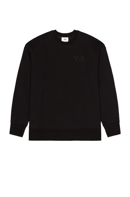 Image 1 of Y-3 Yohji Yamamoto Classic Chest Logo Sweatshirt in Black