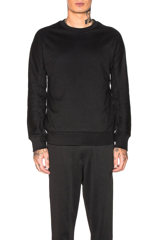 Image 1 of Y-3 Yohji Yamamoto Classic Crew Sweater in Black
