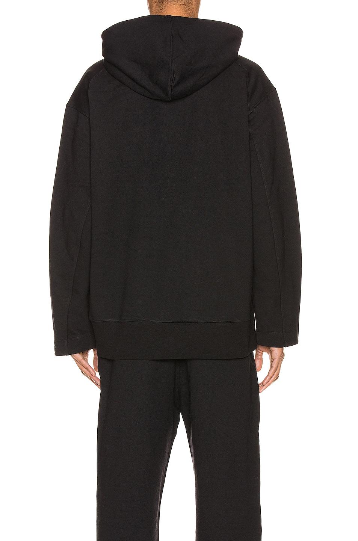 Image 3 of Y-3 Yohji Yamamoto Chest Logo Hoodie in Black