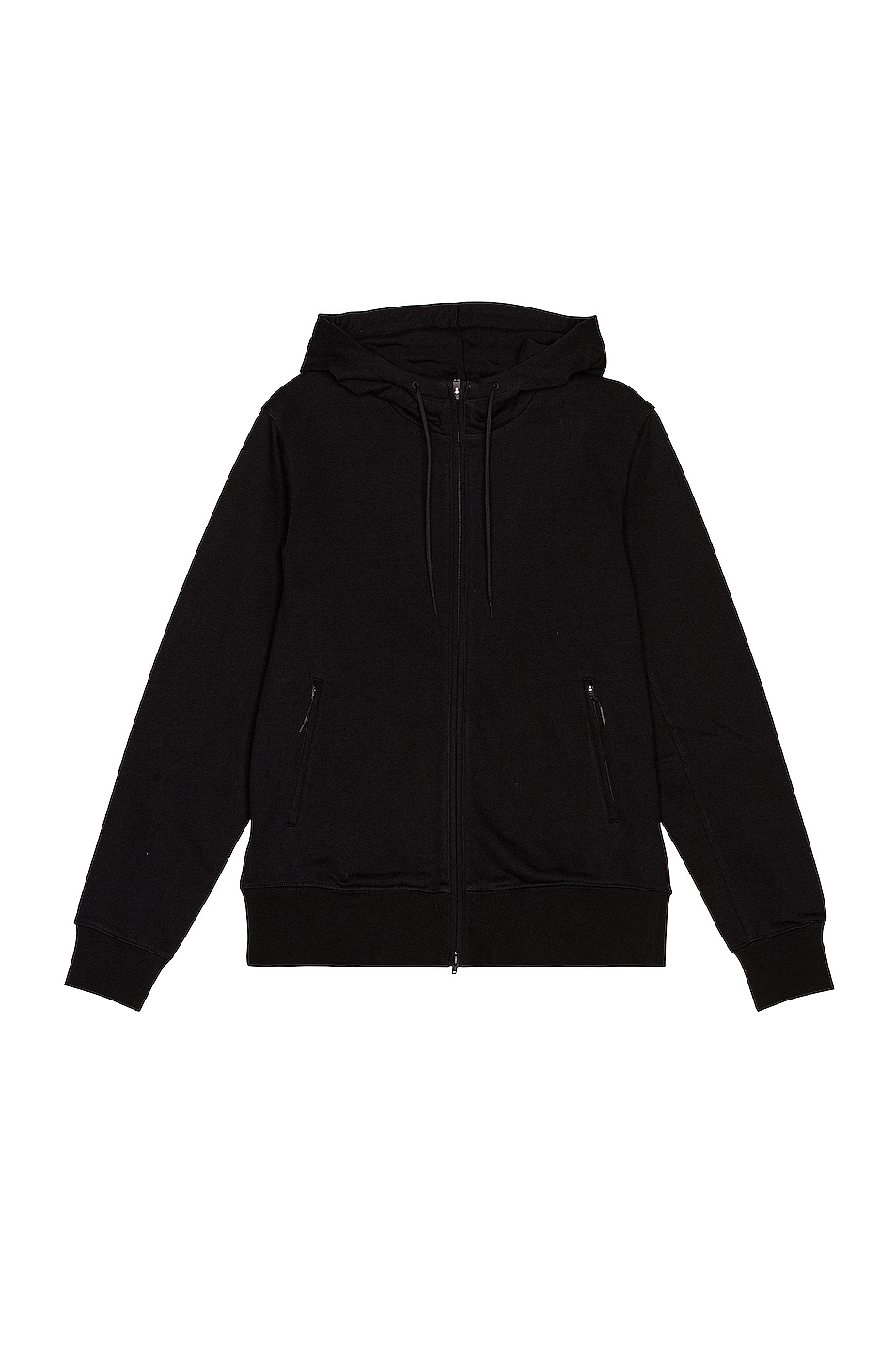 Image 1 of Y-3 Yohji Yamamoto Back Logo Full Zip Hoodie in Black