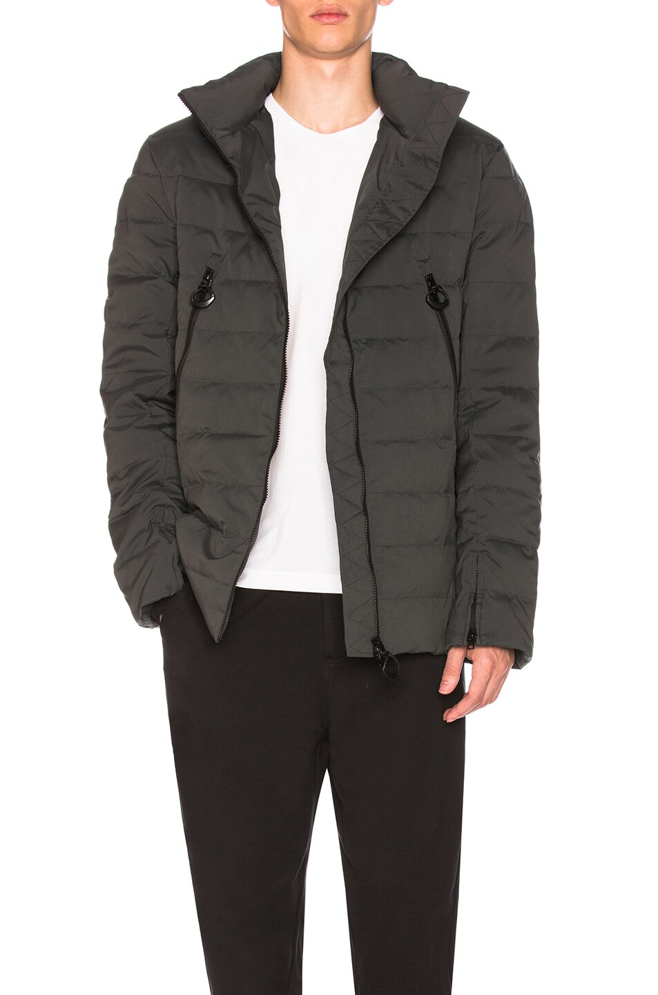 Image 1 of Y-3 Yohji Yamamoto Matte Down Jacket in Solid Grey 58dbe2a16742d