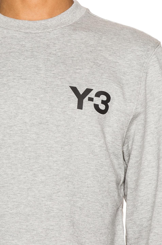 Image 5 of Y-3 Yohji Yamamoto Classic Crewneck in Medium Grey Heather