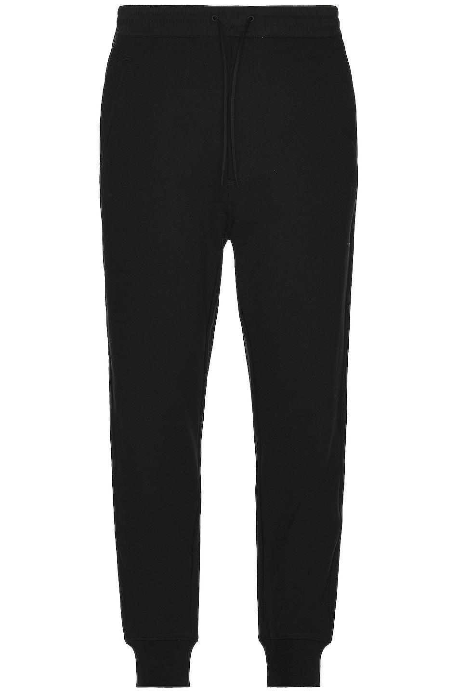 Image 1 of Y-3 Yohji Yamamoto Classic Terry Cuffed Pants in Black