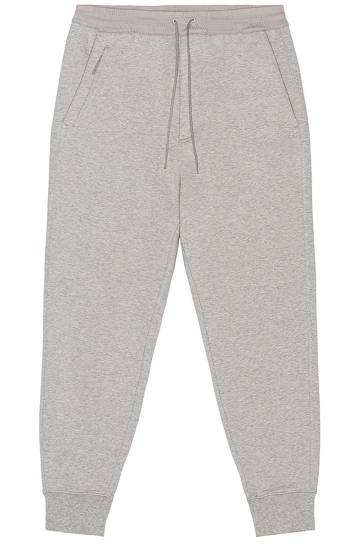 Image 1 of Y-3 Yohji Yamamoto Classic Terry Cuffed Pants in Medium Grey Heather in Medium Heather Grey