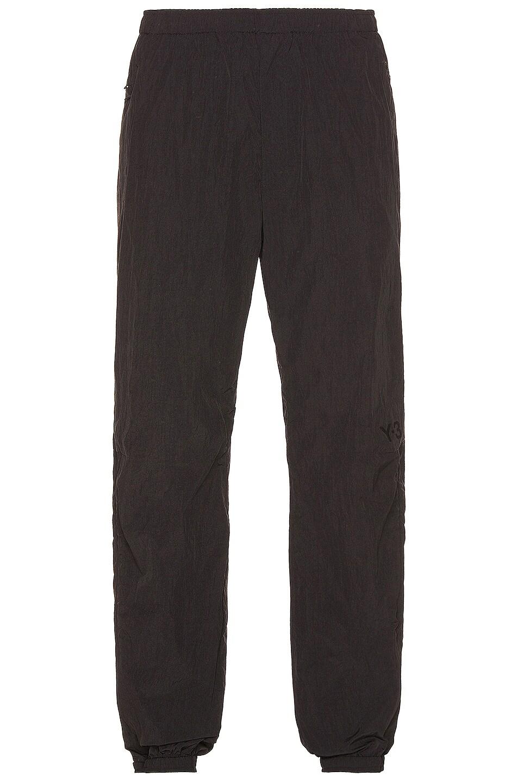 Image 1 of Y-3 Yohji Yamamoto Light Shell Running Pants in Black