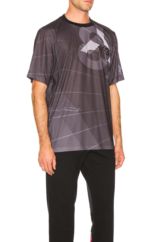 Image 2 of Y-3 Yohji Yamamoto Football Shirt in Parachute Black