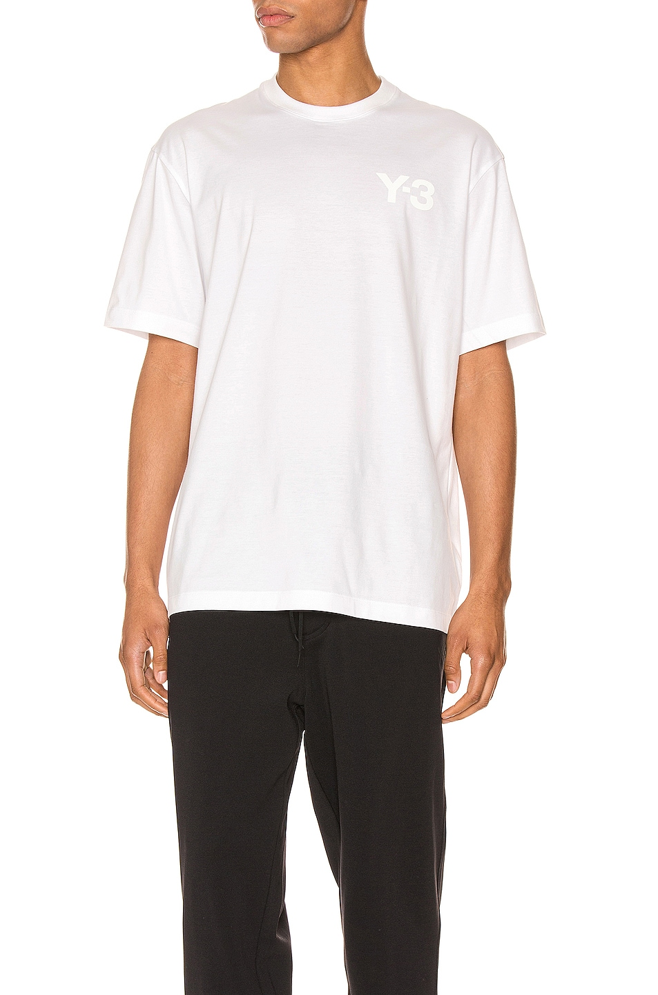 Image 1 of Y-3 Yohji Yamamoto Chest Logo Tee in Core White
