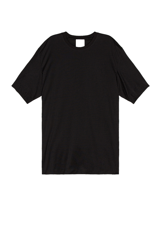 Image 1 of Y-3 Yohji Yamamoto Back Logo Short Sleeve Tee in Black