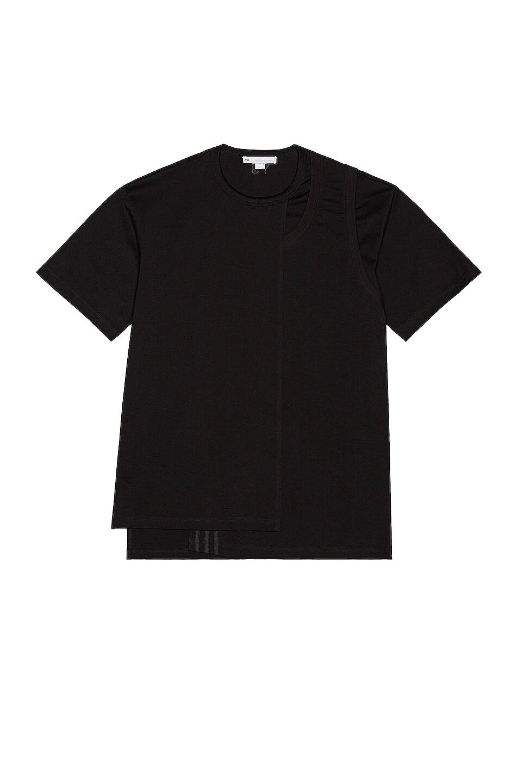 Image 1 of Y-3 Yohji Yamamoto CH2 Layered Short Sleeve Tee in Black