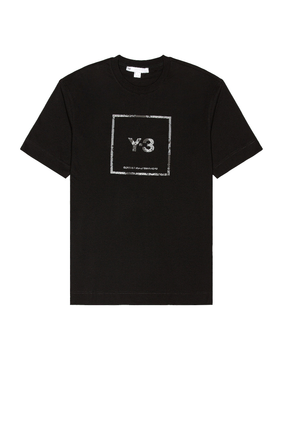 Image 1 of Y-3 Yohji Yamamoto U Square Label Graphic Tee in Black