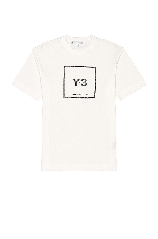Image 1 of Y-3 Yohji Yamamoto U Square Label Graphic Tee in Core White