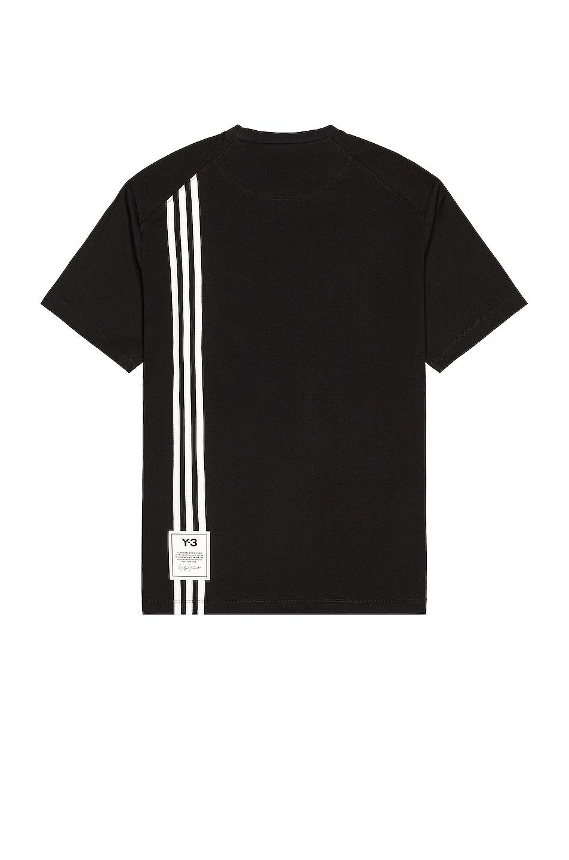 Image 1 of Y-3 Yohji Yamamoto 3 Stripe Tee in Black