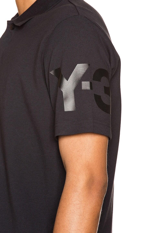 Image 6 of Y-3 Yohji Yamamoto CL Polo in Black