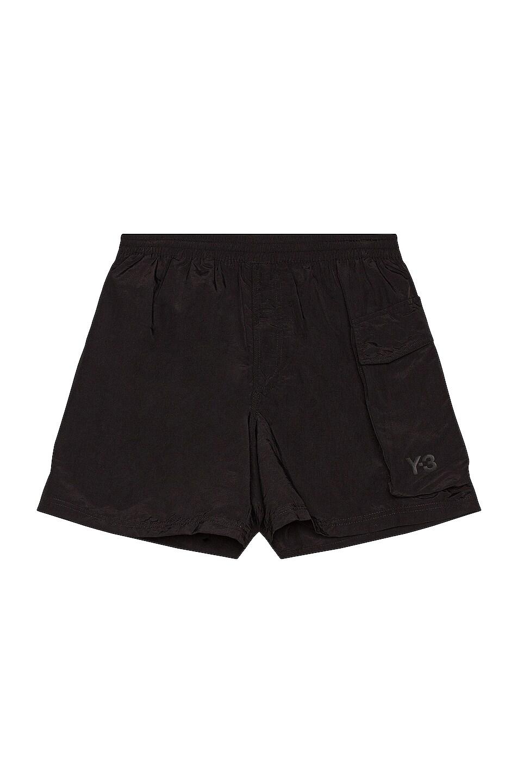 Image 1 of Y-3 Yohji Yamamoto Utility Swim Shorts in Black