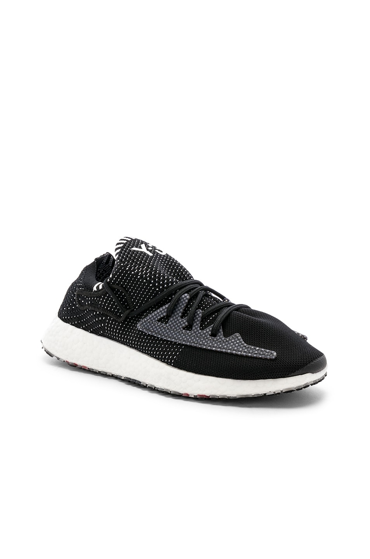 Image 1 of Y-3 Yohji Yamamoto Raito Racer Sneaker in Core Black & White